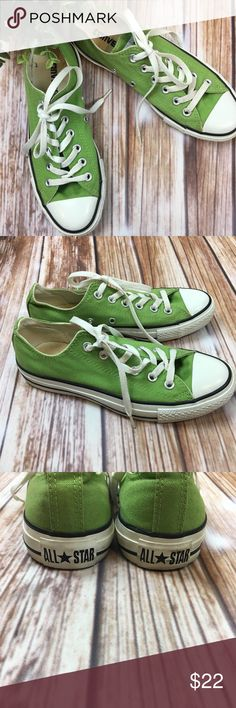 Green Chucks Chuck Taylor Converse All Star 5 7 This pair of Chucks are in excellent condition. They were only worn one time. Unisex Men's size 5 or women's size 7. Converse Shoes Sneakers