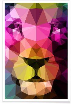 Wild Neon 01a als Premium Poster von Three Of The Possessed | JUNIQE