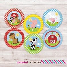 Farm cupcake topper Farm printable Baby Shower by PostalUrbana