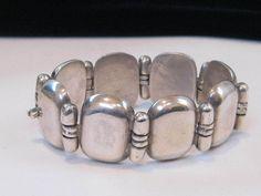 Hector Aguilar Vintage TAXCO Mexican Silver Bracelet * Circa 1940's * Classic! #HectorAguilar