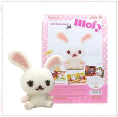 Needle Felting  Kit Mofy White Rabbit - Wool Craft  By Hamanaka  From NHK Anime