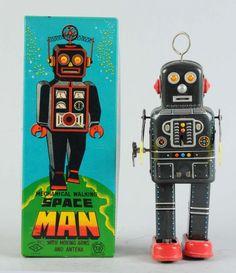 Japanese Tin Litho Space Man Robot.