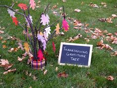 Create a Thanksgiving gratitude tree as a centerpiece for your table and celebrate thankfulness with your family! Follow this easy tutorial from Crayola for a fun craft idea at your Thanksgiving gathering.