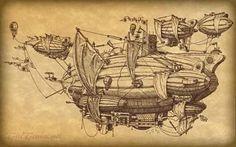 Recordando un plano antiguo de un globo #Steampunk