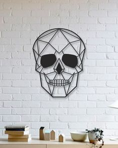 Kuru Kafa Metal Tablo - Skull