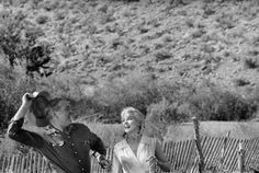 """Clark Gable and Marilyn Monroe on the set of """"The Misfits"""", 1960"""