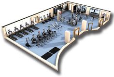 Champneys Springs Health Resort Cybex Fitness Center Design