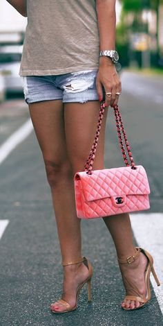 ee0e32a34557 handbags with matching shoes Pink Chanel Bag, Coco Chanel, Channel Bags,  Vintage Handbags