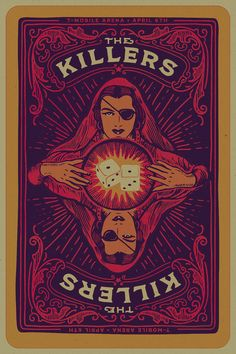 The Killers - Tshirts & Gigposters 2016 on Behance The Killers, Vintage Music Posters, Retro Posters, Rock Band Posters, Music Artwork, Poster Prints, Art Prints, Gig Poster, Psychedelic Art