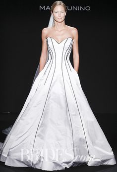 REPLACE BLACK CORDING WITH WHITE Brides Wedding Dress By Mark Zunino