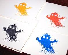8 Bit Ghost halloween cards, #ghost, #8Bit, #halloween