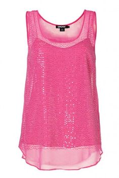DKNY Silk Sequined Top in Charming Pink $249.99 SHIPPED FREE  ~~~ALSO FREE LOCAL DELIVERY NOW AVAILABLE WITHIN 10 MILES OF SANTA MONICA, CALIFORNIA ZIP CODE 90404~~~ WEBSITE:   www.seabaylakehome.com