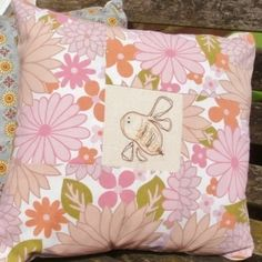 Bee Vintage Fabric Floral Cushion £14.50