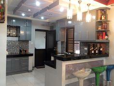 Dream house Simple Kitchen Design, Small House Design, Home Design Plans, Condo, Kitchens, Exterior, Homes, Interior Design, Modern