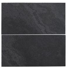 byzantine design - Ardesia black slate honed subway