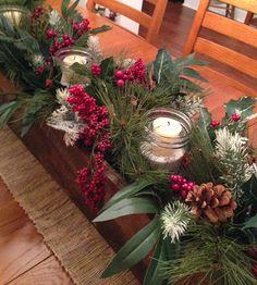Cottons 'n Woolens Christmas centerpiece