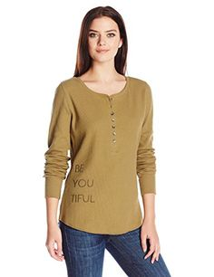 Life is good Waffle Henley Be You Tiful TShirt Woodland Green Small >>> Be sure to check out this awesome product. (This is an affiliate link) #LadiesActivewear Metal Buttons, Cuffs, Woodland, Life Is Good, Waffles, Detail, Active Wear For Women, Outdoor Outfit, Pullover