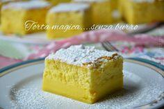 Torta magica senza burro morbida e delicata.