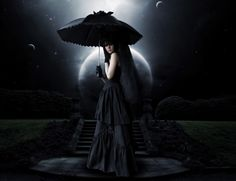 Dunkel Gothic  Moonlight Wallpaper