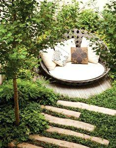 In this hidden, garden bed.
