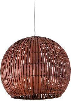 Satori Small Pendant - Chocolate, Pendants, Contemporary, New Zealand's Leading Online Lighting Store $130 - 36cm wide