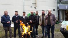 De Helbig-mannen: Fokke, Kevin, Arne, Marc, Jens, Luc en brouwvriend Ferdinand #topteam #helbigbe