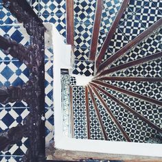 There is beautiful tile all around and these stairs spotted by @glueckstoff are the perfect example  #TileTheWorld TileTheWorld by cletile