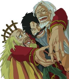 Gol D Roger Silvers Rayleigh One Piece