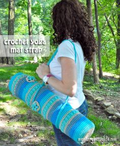 My Merry Messy Life: Crochet Yoga Mat Strap {free crochet pattern}