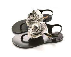 Yarose-Shulzhenko-Traditional-HandMade-Luxury-Black-Shoe-with-Python-Flower-Sz-9