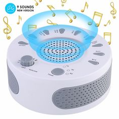 Portable White Noise Sound Machine  Price: 62.00 & FREE Shipping  #babytoys Help Baby Sleep, How To Get Sleep, Yellow Night Lights, Blowing Wind, White Noise Sound, Sleep Therapy, Soothing Baby, Ocean Sounds, Nature Sounds