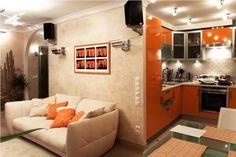 совмещенная комната с кухней: 14 тыс изображений найдено в Яндекс.Картинках