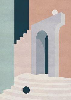 Barragan-inspired Illustrations by Charlotte Taylor