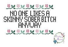 Skinny Btch Funny Subversive Cross Stitch PDF by xCraftyMandax