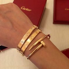 42d5c28408c Cartier Love bracelets and Juste in Clou bracelet