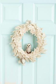 Felted Owl Wreath