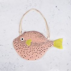 Pink Pufferfish Bag