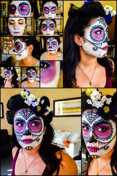 Halloween make up - day of the dead - sugar skull