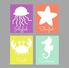 under the sea nursery wall art decor by KalasKorner on Etsy,