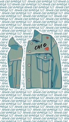 Chi Omega Wallpaper Jean Jacket