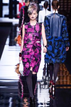 Pink Military Camouflage Pattern Dress  #fashion #trend for Fall Winter 2013  Fendi F/W 2013 #military #style  #trends #trendy