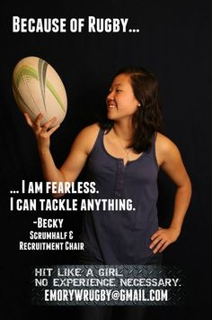 "Emory Women's Rugby Launches Empowering ""Because Of Rugby"" Campaign Rugby Girls, Rugby 7's, Rugby Sport, Rugby Rules, Rugby Training, Womens Rugby, The Sporting Life, Cycling Quotes, All Blacks"