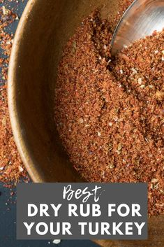 Have you ever deep fried your turkey? My mom's deep fried turkey rub is the perfect seasoning for your Thanksgiving bird! Dry Rub For Turkey, Smoked Turkey Rub, Homemade Spices, Homemade Taco Seasoning, Homemade Tacos, Homemade Velveeta, Recipes With Velveeta Cheese, Fried Turkey Injection Recipe, Rotisserie Turkey
