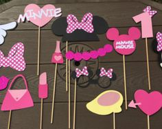 Mickey & Minnie Mouse Photo Booth Props por lilysmagicalworld