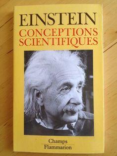 #sciences : Conceptions Scientifiques d'Albert Einstein.  Ce recueil rassemble deux groupes de textes. Le premier ensemble d'articles traite de la science, de la physique en général, et particulièrement de la théorie de la relativité. Figure parmi eux un des plus anciens exposés d'Einstein - Qu'est-ce que la théorie de la relativité ? (1919) - ainsi qu'un des articles les plus importants qu'il ait écrits, Physique et Réalité (1936). Les autres textes vont de 1940 à 1950 (Fondements de ...