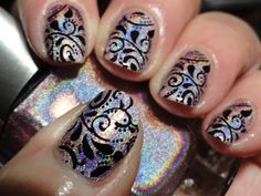 Canadian Nail Fanatic: Color Club Cloud Nine with Dashica XL SdP 72 stamping plate