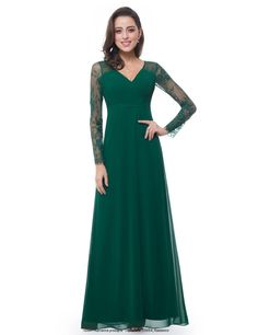 Find Ever-Pretty Women's Elegant V-Neck Long Sleeve Evening Party Dress 08692 online. Shop the latest collection of Ever-Pretty Women's Elegant V-Neck Long Sleeve Evening Party Dress 08692 from the popular stores - all in one Purple Evening Dress, Lace Evening Gowns, Long Sleeve Evening Dresses, Evening Party Gowns, Green Dress, Long Dresses, Sleeve Dresses, Blue Bridesmaid Gowns, Formal Bridesmaids Dresses