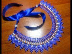 Колье - воротник из бисера/ Бисероплетение / Necklace - collar of beads. - YouTube