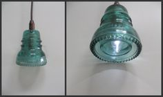 Remodelaholic » Blog Archive Recycling Glass Insulators Into Pendant Light » Remodelaholic