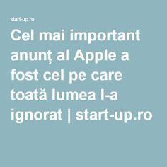 Cel mai important anunț al Apple a fost cel pe care toată lumea l-a ignorat | start-up.ro
